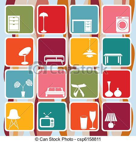 interior design clip art.