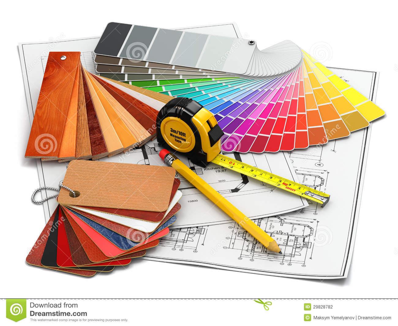 Interior Design Tools Clipart.