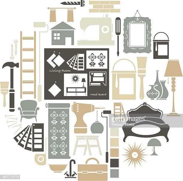 60 Top Interior Design Stock Illustrations, Clip art, Cartoons.