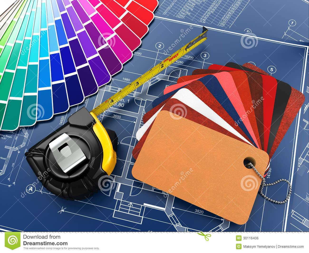 Interior Design Tools Clipart.