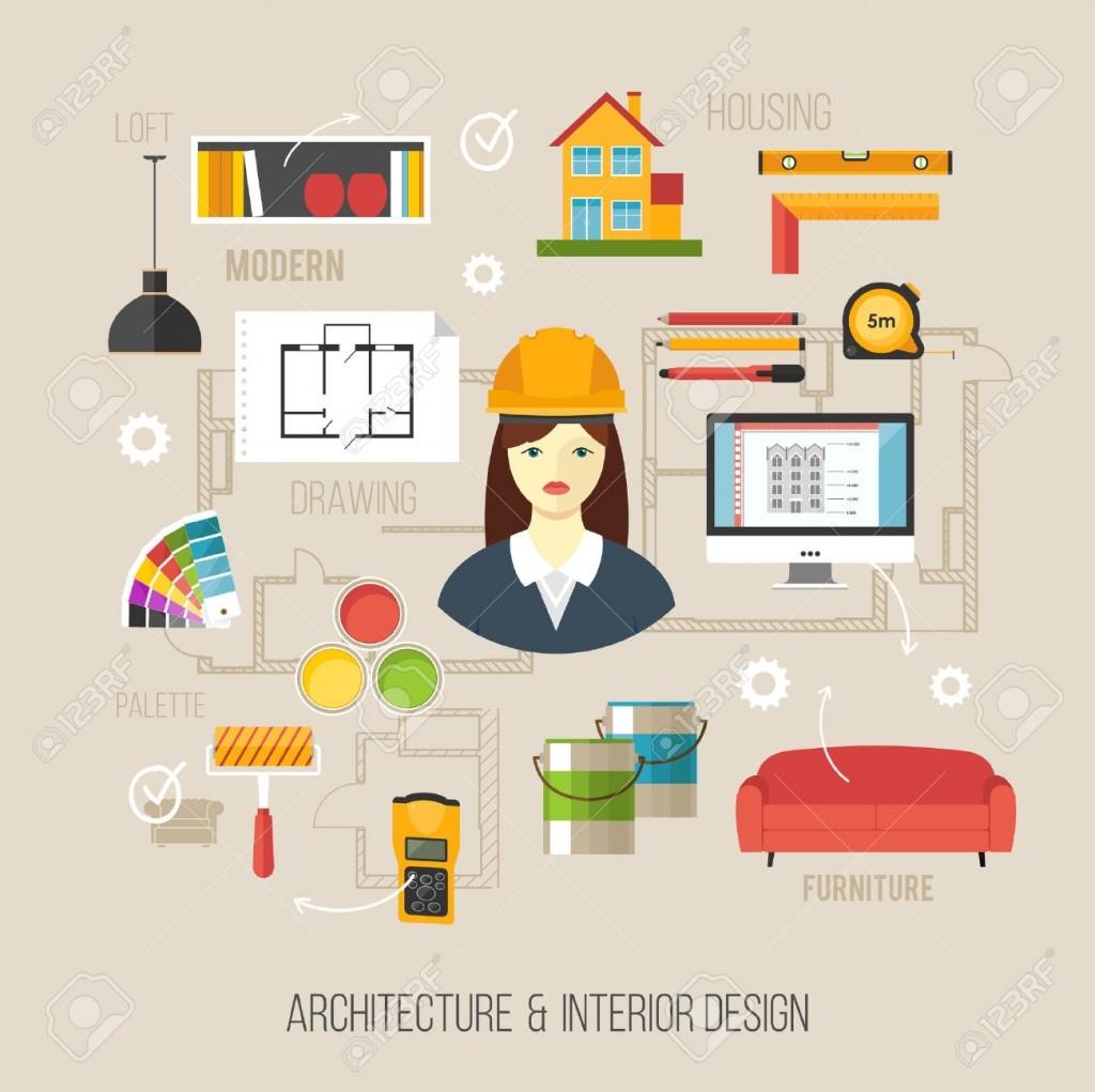 Architecture Clipart Interior Designer Pencil And In Color 17.
