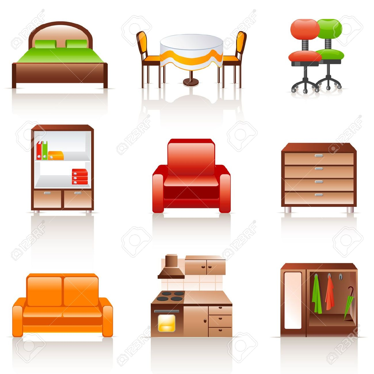 Interior Furniture Clipart Clipground
