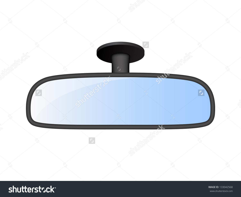 Car Rear View Mirror Stock Vector 133042568.