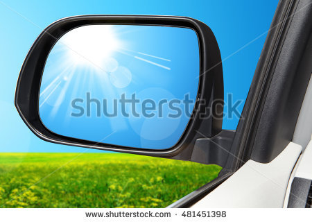 Rearview Mirror Stock Photos, Royalty.