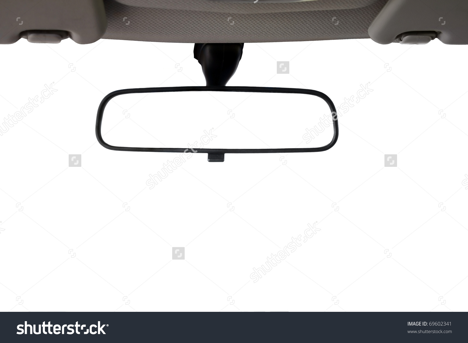 Car Rear View Mirror Isolated Creative Stock Photo 69602341.