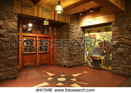 Stock Images of Interior shot of Timberline Lodge, Mt. Hood.