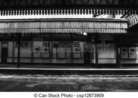 Stock Photography of Stirling train station interior.