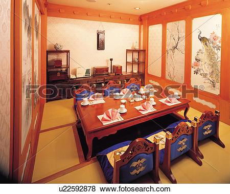 Pictures of Interior shot of a Korean restaurant u22592878.