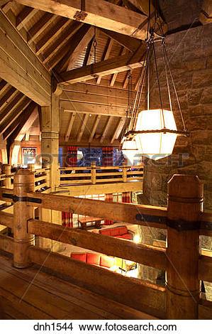 Stock Photo of Interior shot of Timberline Lodge, Mt. Hood, Oregon.