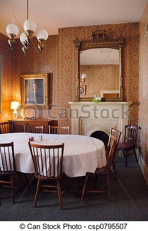 Picture of 1800s Home Dining Room.
