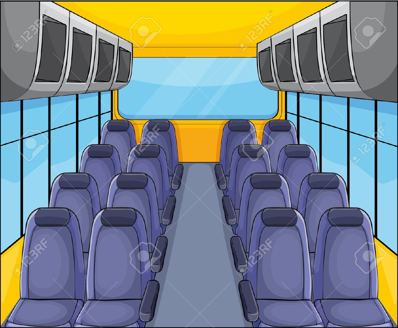 Inside school bus clipart.
