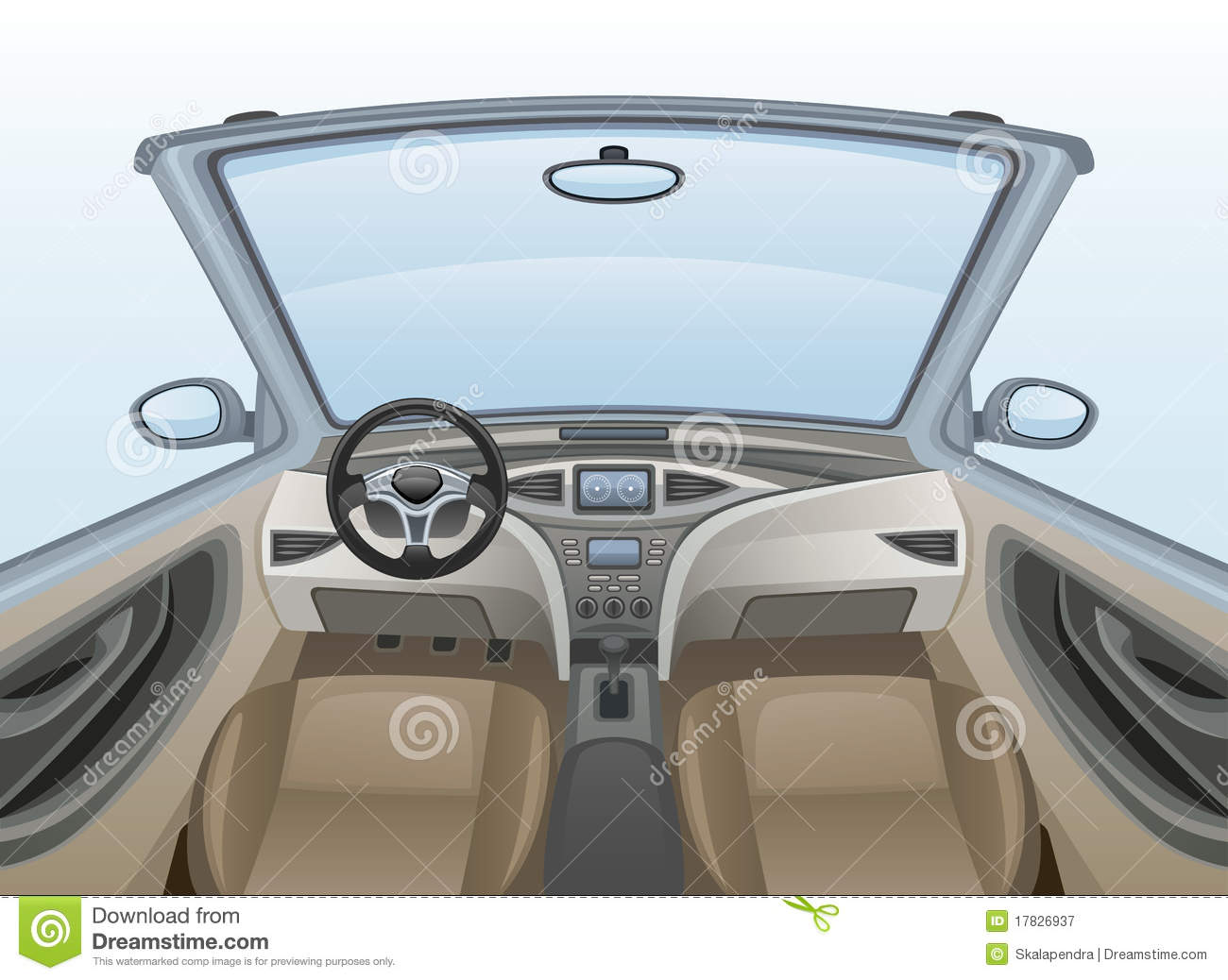 Car interior clipart.