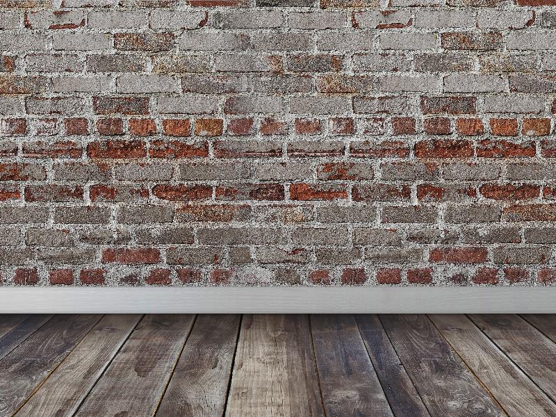 Bricks Wall Wood Floor Room Interior Scene Texture (Brick.