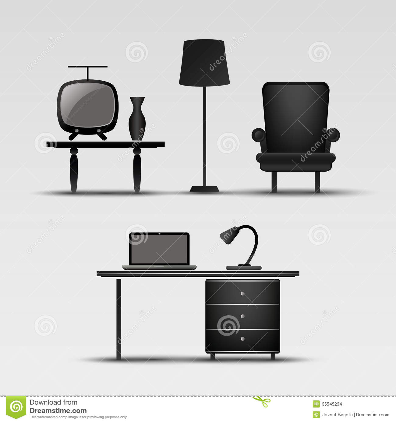 Clipart in home interiors.