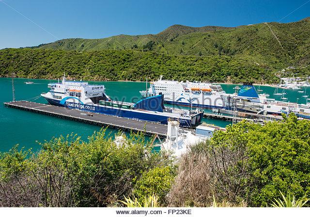 Interislander Ferry Wellington New Zealand Stock Photos.
