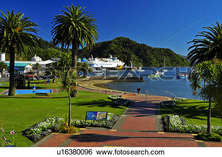 Stock Images of Interislander Ferries, Picton, South Island, New.