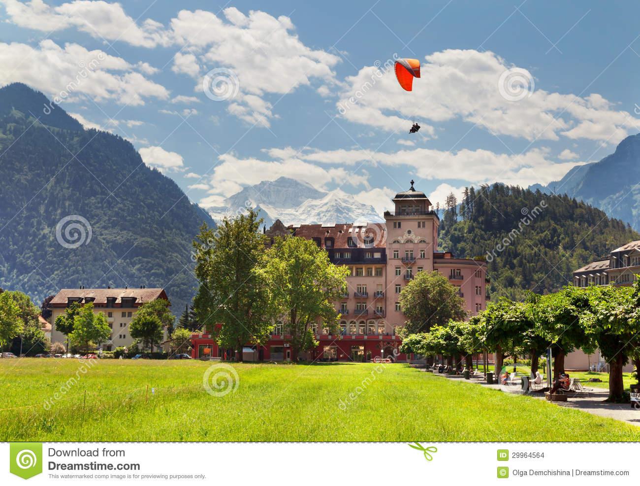 Interlaken In Summer, Switzerland Stock Images.