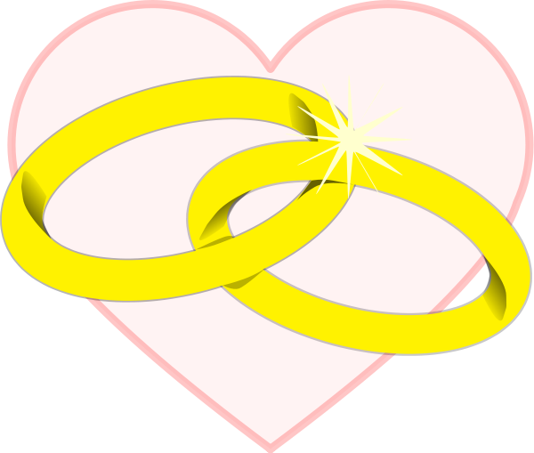 Linked Wedding Rings Clipart: Wedding rings royalty free stock.