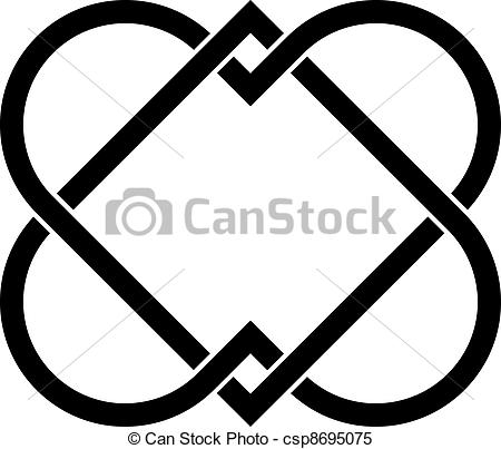 Clipart Vector of vector linked hearts csp8695075.