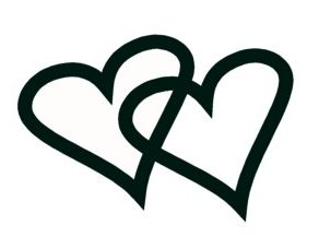Interlocking Heart Clipart.