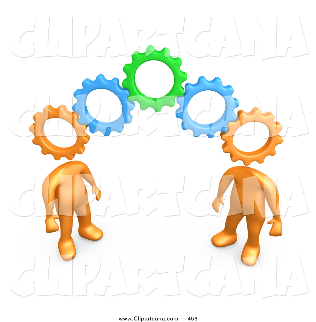 Interlocking cliparts.