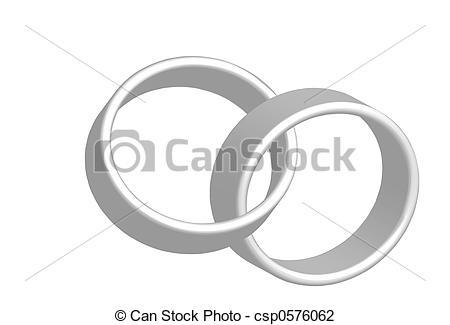 Interlocking Wedding Bands Clipart.