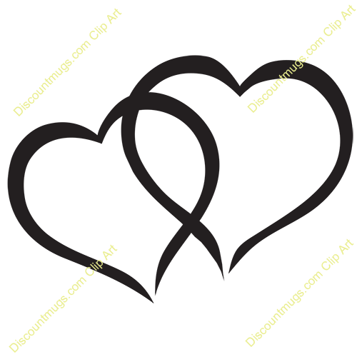 Interlocking hearts clipart.