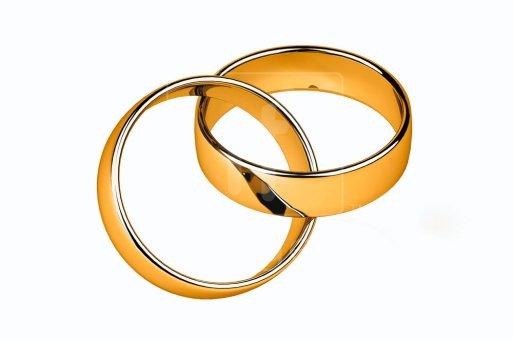 Interlocking wedding rings clip art.