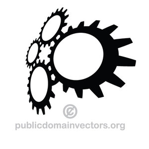 245 interlocking gears clipart.