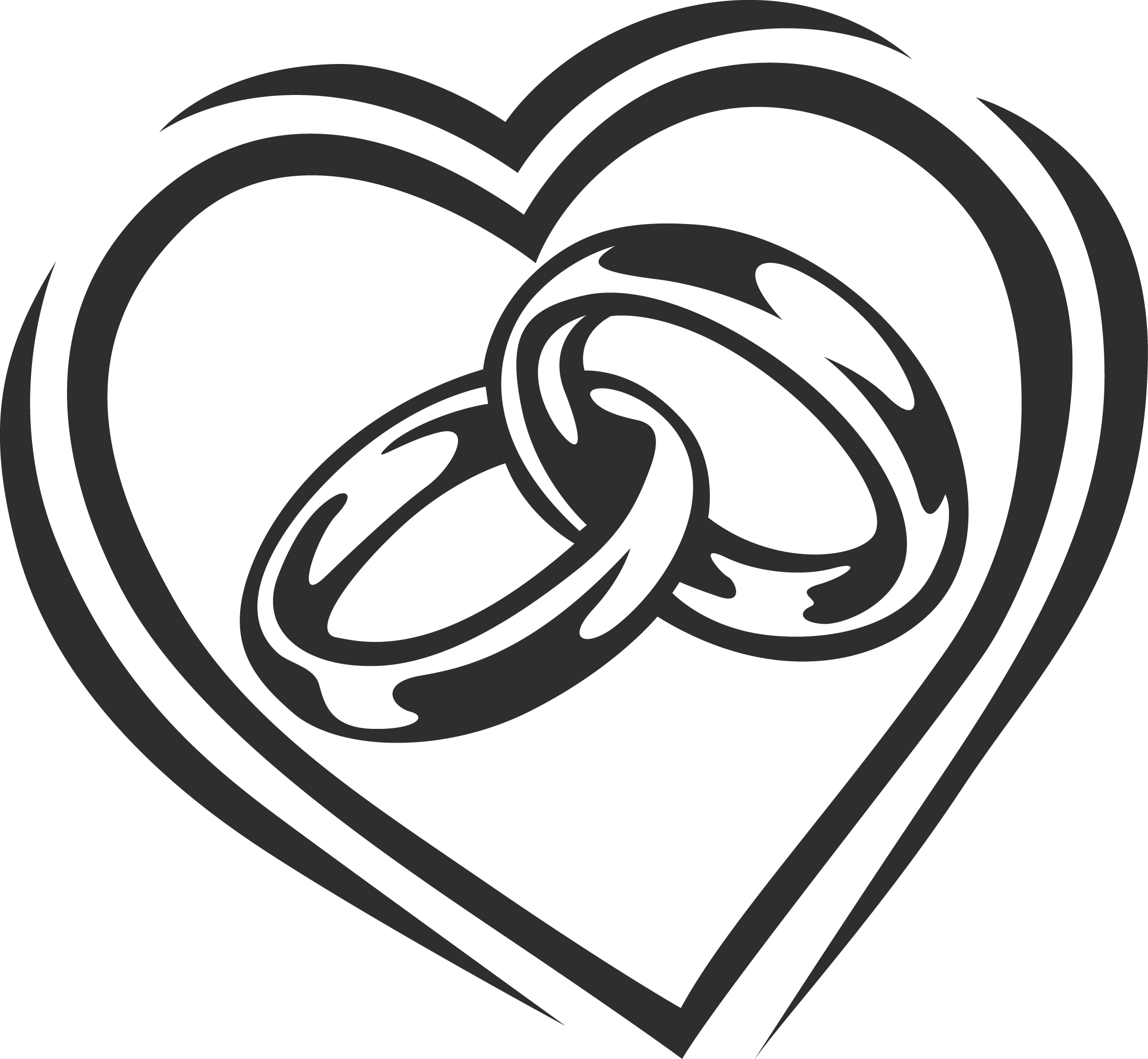 Interlocking wedding rings clipart clipart images gallery for free.