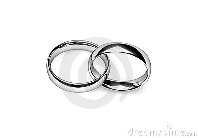 Interlocking Wedding Bands Clipart.