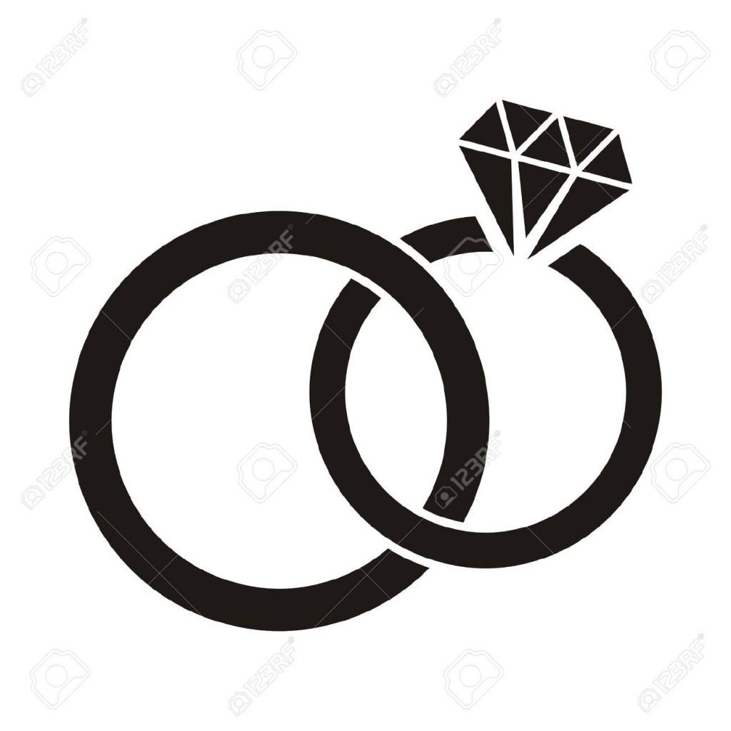 Interlocking Wedding Rings Clipart.