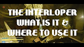 How to get the Interloper Relic and Where to use it, Destiny.
