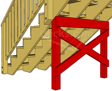 Decks.com. Extra Support For Long Stair Stringers.