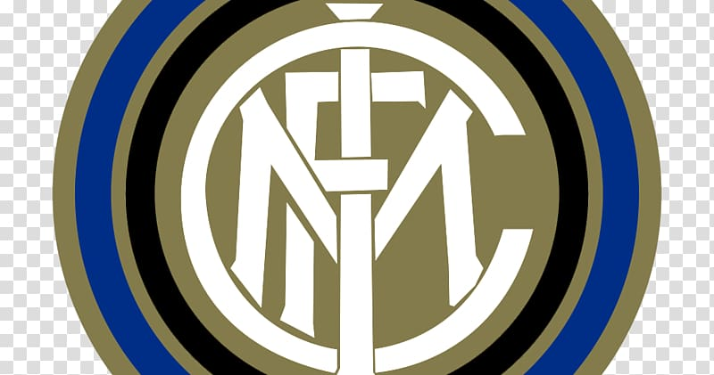 Round white, blue, and brown logo, Inter Milan Dream League.