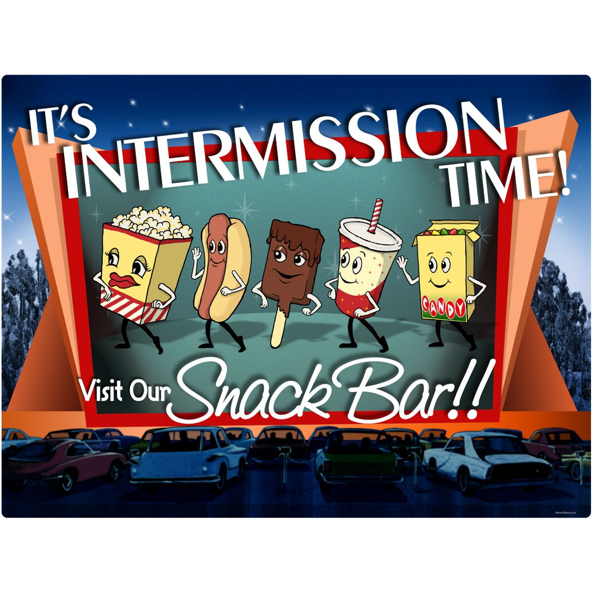 Intermission Time Snack Bar Wall Decal.