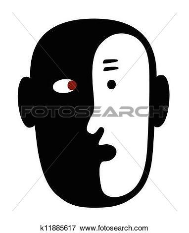 Clip Art of Internal Dialogue k11885617.