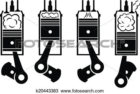 Clipart of Internal combustion engine k20443383.