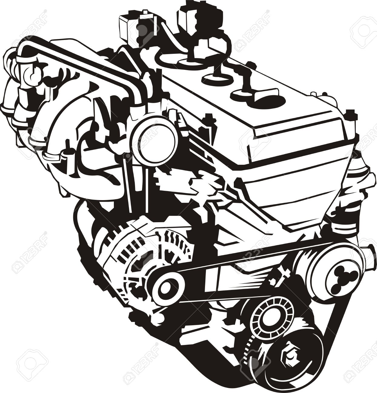Internal combustion engine clipart - Clipground