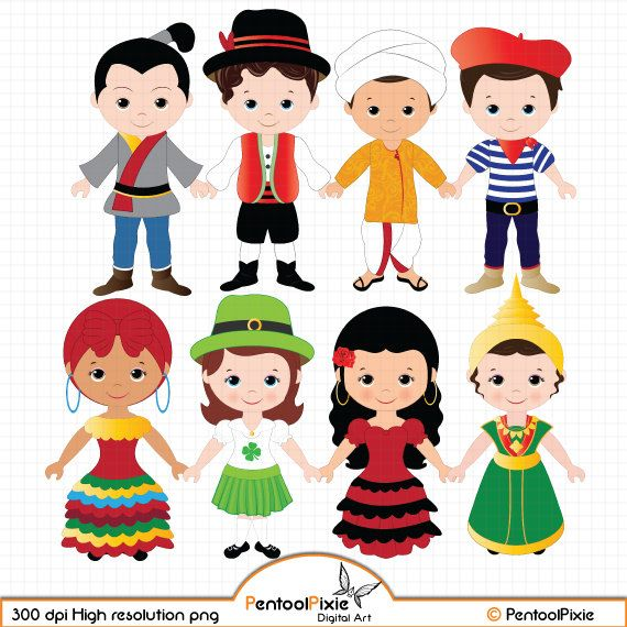 Children of the World clipart PART 2, Children around the.