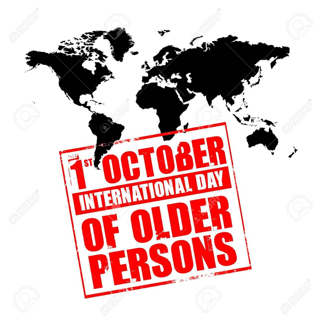 1st October International Day of Older Persons World Map In.