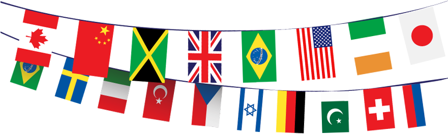 Download International Flags Banner Png.