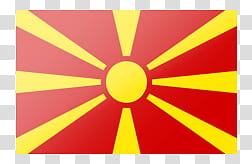 International Flags, yellow and red striped banner.