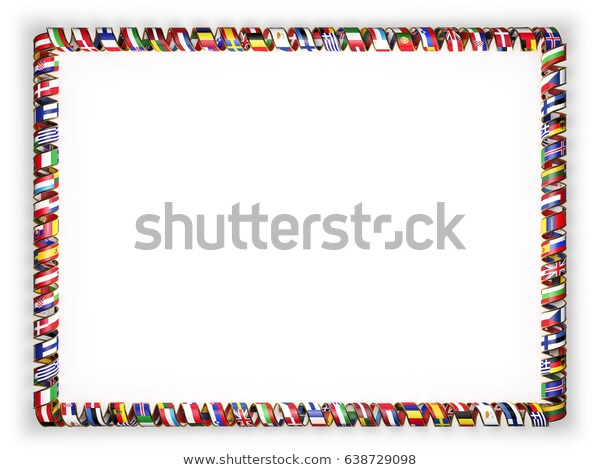 Frame Border Ribbon Flags All Countries Stock Illustration 638729098.