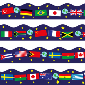 World Flags Border / Board Trimmer.