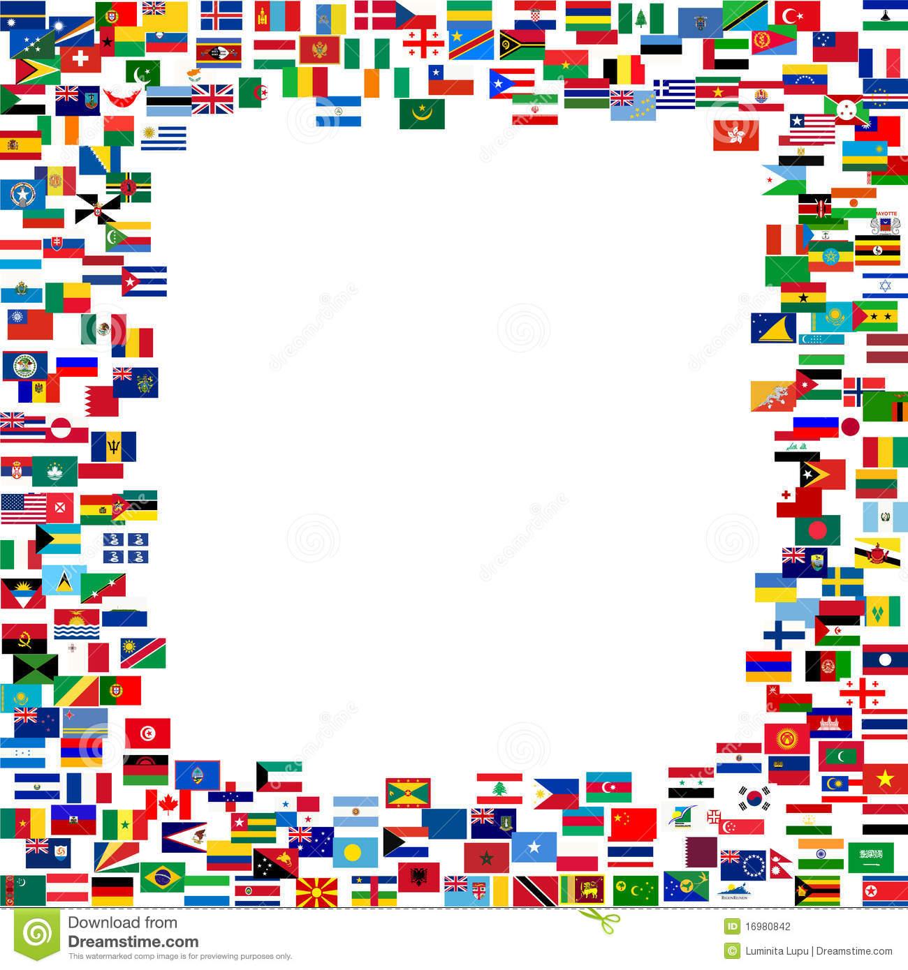 International Flag Border Clipart.