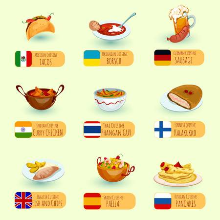 3,879 International Food Stock Illustrations, Cliparts And Royalty.