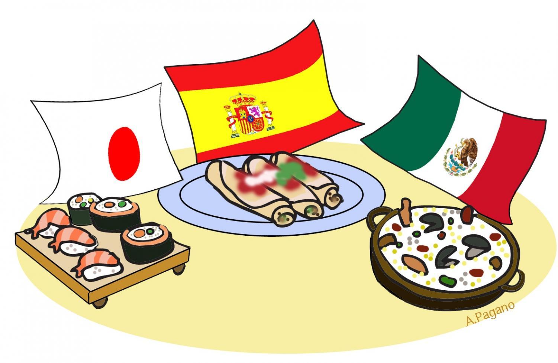 International club hosts food party.