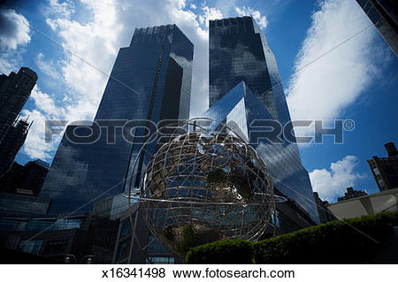 Pictures of Unisphere in front of Trump International Hotel and.