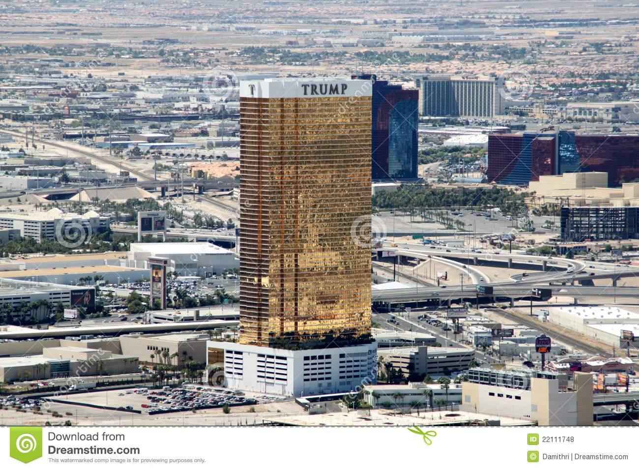 Trump International Hotel, Las Vegas Editorial Stock Photo.